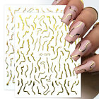 3D Nail Stickers Snake Flower Letter Transfer Decals Nail Art Decoration Paper