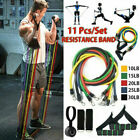 11Pcs Crossfit Fitness Resistance Bands Workout Exercise Yoga Training Tubes image