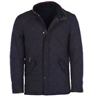 Barbour Men's Navy Powell Tailored Fit Quilted Jacket $300