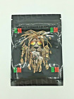 Bob Marley Black Mylar Resealable Smell Proof 3.5g Bags | USA Free Shipping