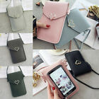 Women Retro Wallet Purse Leather Coin Cell Phone Mini Crossbody Shoulder Bag