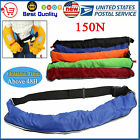 Manual/Auto Adult Inflatable Waist Belt Pack Life Jacket with Reflective Tapes