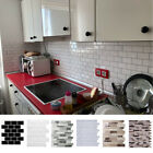 Mosaic Self-adhesive Kitchen Backdrop Wall Tiles Stickers Peel & Stick Bathroom
