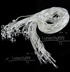 925 Silver Plated 1mm/2mm Classic Snake Necklace Chain For Pendant Wholesale