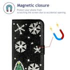 Christmas Snowflake Flip Wallet Card Stand Case Cover For iPhone 11/11 Pro Max