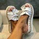 Women Casual Daily Comfy Bowknot Slip On Sandals Tie Bow Sandals Shoes UK