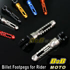 Rider Front Foot Pegs Footrests Fit Aprilia RSV 1000 R Shiver 750 900 Mana 850 image