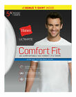Hanes Ultimate Men's White T-Shirt 5 Pack Comfort Fit Crewneck Undershirt Short <br/> Official Hanes Brands Store -- First Quality Authentic