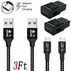 3/6/10Ft Micro USB Charger Fast Charging Cable Cord For Samsung Android Phone