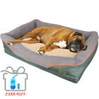 Upgrade Soft Warm Dog Bed Solid Memory Foam Pet Soft Couch w/ Waste Bag Convenie