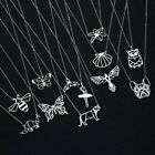 Stainless Steel Animal Bee Hollow Pendant Necklace Clavicle Chain Women Jewelry image