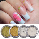 Stainless Steel Nail Beads Mini Gold Silver 3D Nail Art Decoration 0.8/1.0mm DIY