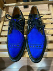 NOS ORIGINAL GEORGE COX BLACK LEATHER & BLUE SUEDE CREEPER GIBSONS SIZE 6 & 7