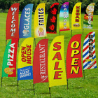 Open Swooper Flag Pole Kit Sign Advertising Feather Store Sales UV Resistant NEW