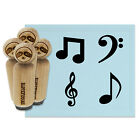 Music Musical Notes Treble Bass Clef Eighth Symbols Rubber Stamp Set Stamping