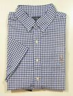 Polo Ralph Lauren Men's Blue Checked Classic Fit Oxford S/S Button Front Shirt