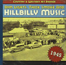 COUNTRY & WESTERN HIT PARAD...-1945-DIM LIGHTS THICK SMOKE & HILBILLY MUS CD NEW
