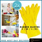 Washing Up Gloves, Household Rubber Glove, 2 Pair Dish Wash Gloves Medium Large