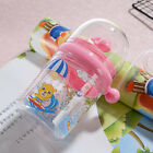 250ml Whale Water Spray Cup Leakproof Water Bottle w/Plastic Straw For Children