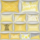 Nordic Yellow Pillow Cases Throw Cushion Cover Sofa Home Office Decor Rectangle