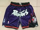 mens pocket Toronto Raptors purple Retro short pants
