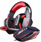 Kotion Each G2000 Red and Gold Orange Headset for gaming plus Gamer Mouse Pack