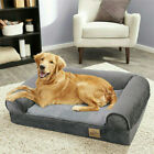 Traditional Large Memory Foam Dog Bed Pet Cuddler Couch Lounger Removable Cover