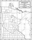 Minnesota Outline Map 50 Pack, Paper or Laminated