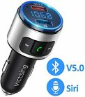 VicTsing Car Kit Wireless Bluetooth V5.0 FM Transmitter QC3.0 Radio AUX Adapter