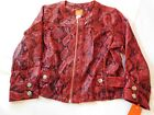 Hearts of Palm Petite Women's Ladies Long Sleeve zip up Shirt Jacket Size 10P