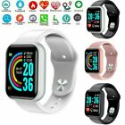 Smart Watch Y68 Waterproof Heart Rate Tracker Fitness Wristband for Android IOS