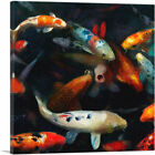 ARTCANVAS Koi Carp Fish Japan China Asia Pond Canvas Art Print