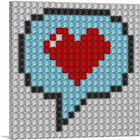 ARTCANVAS Heart Word Bubble Emoticon Jewel Pixel Canvas Art Print