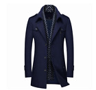 Men's Coats Overcoat Long Winter Warm Wool Suit Blazer Jackets Casual Business