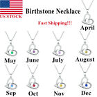 Kyпить Woman Birthstone Necklace Love Personalize Pendant Mom Christmas Birthday Gifts на еВаy.соm