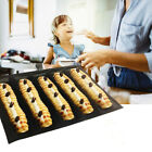5-Cavity Silicone Baguette Shape Non-stick French Bread Mold Baking Pan Tool