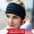3pcs Women Wide Sports Yoga Headband Stretch Hairband Elastic Hair Band Turban