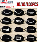 10/50/100X Black Cotton Anti-Dust Reusable Mouth Mask Cycling Outdoor Unisex Lot