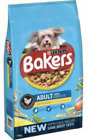 Bakers Adult Dry Dog Food Veg Omega 6 Fatty Acids Assorted Sizes/Tastes Natural