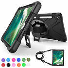 For Apple iPad 9.7 2018 6th 5th Gen Case Rotating Stand Strap w/ Pen Slot Holder