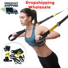 Home Gym Suspension Resistance Strength Training Straps Workout Fitness Trainer image