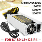 1600W/1800W/2000W Mining Power Supply For BTC ETH Miner Antminer S7 S9 L3+ D3 R4