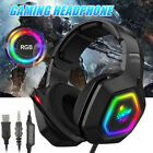 Pro Gamer Gaming Headset 3.5mm+USB MIC LED Headphones for PC Laptop PS4 Xbox