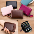 US Men Women Wallet Leather Credit Card Holder RFID Blocking Zipper Thin Pocket