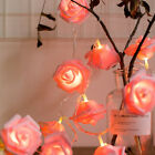 Christmas Party Home Decor Rose Lights String Led Flower Fairy Lamp 10/20 Bulbs