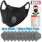 Sport Face Mask With Breathing Valve Activated Carbon Mouth Covers Filter Pad