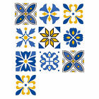 10pcs 6x6 Inch European Style Decorative Wall Tile Stickers Diy Home Decoration