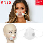 Clear Face Masks &12xfilters Respirator Face Mouth Mask Reusable Anti-droplets