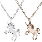 Childrens Kids Girls Jewellery Silver / Gold Unicorn Necklace Pendant Gift UK