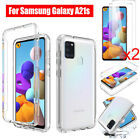 For Samsung Galaxy A20s Shockproof Case Cover+tempered Glass Screen Protector